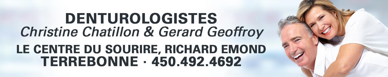 Denturologiste Gérard Geoffroy, d.d. & Christine Chatillon, d.d.