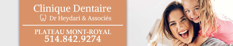 Clinique dentaire Dr Heydari et associées, Dentiste Plateau Mont-Royal