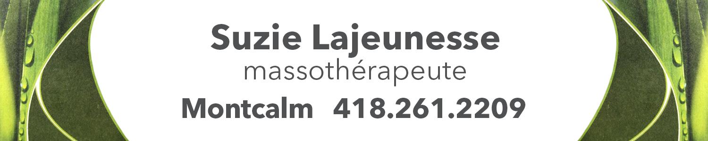 Suzie Lajeunesse massothérapeute