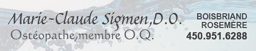 Marie-Claude Sigmen D.O. ostéopathe