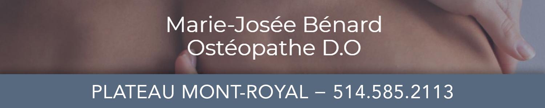 Marie-Josée Bénard Ostéopathe D.O.