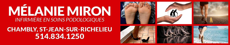 Mélanie Miron - infirmière en soins podologiques